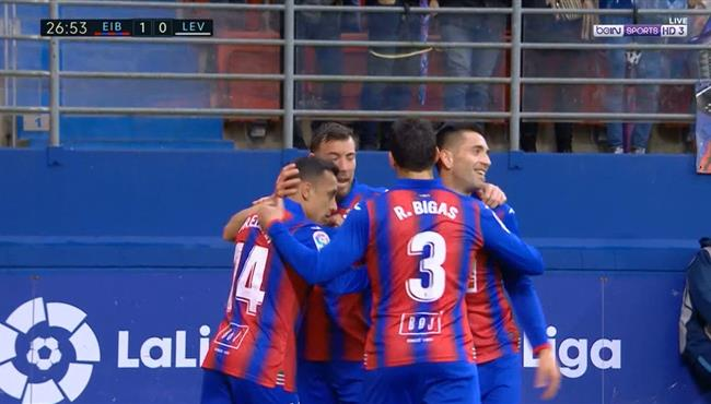 اهداف مباراة ايبار ليفانتي (3-0) الدوري الاسباني