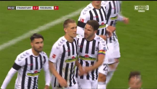اهداف مباراة فرايبورج واينتراخت فرانكفورت (3-3) الدوري الالماني
