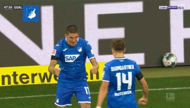هدف هوفنهايم الثالث فى مرمي كولن (3-0) الدوري الالماني