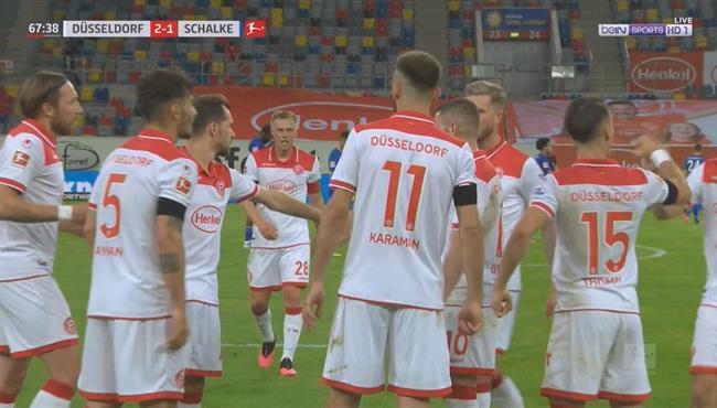 اهداف مباراة شالكه ودوسلدورف (1-2) الدوري الالماني