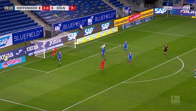 هدف كولن الاول فى مرمي هوفنهايم (1-3) الدوري الالماني