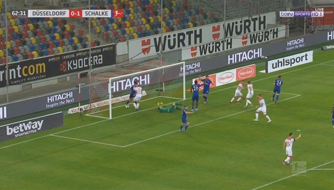 هدف تعادل دوسلدورف الرائع مع شالكه (1-1) الدوري الالماني