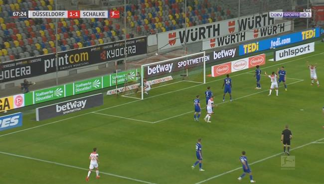 هدف دوسلدورف الثاني في مرمي شالكه (2-1) الدوري الالماني