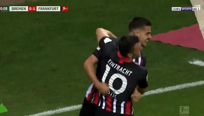 اهداف مباراة اينتراخت فرانكفورت وفيردر بريمن (3-0) الدوري الالماني