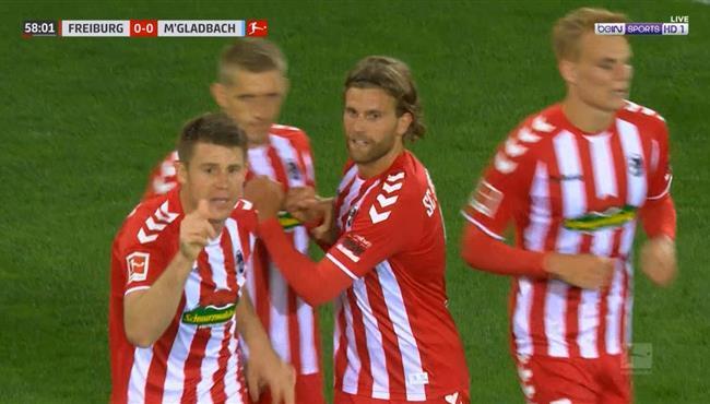 هدف فوز فرايبورج علي بوروسيا مونشنجلادباخ (1-0) الدوري الالماني