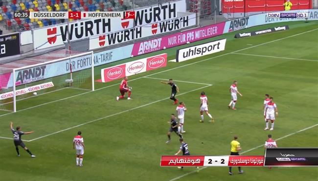 اهداف مباراة هوفنهايم وفورتونا دوسلدورف (2-2) الدوري الالماني