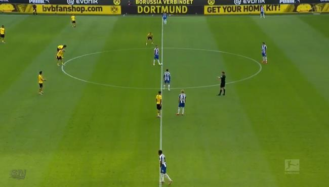 ملخص مباراة بوروسيا دورتموند وهيرتا برلين (1-0) الدوري الالماني