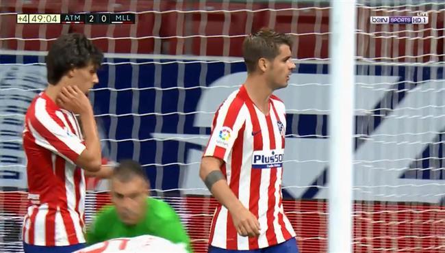 هدف الفارو موراتا الثاني في مرمي ريال مايوركا بالدوري الاسباني