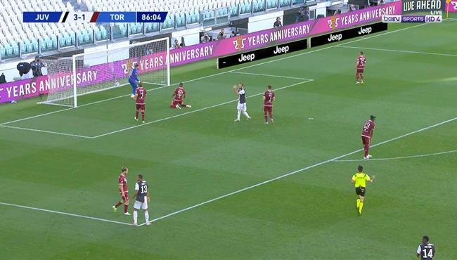 هدف يوفنتوس الرابع في مرمي تورينو بالدوري الايطالي