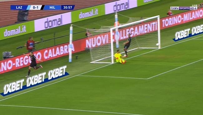 هدف ابراهيموفيتش الملغي فى مباراة ميلان ولاتسيو بالدوري الايطالي
