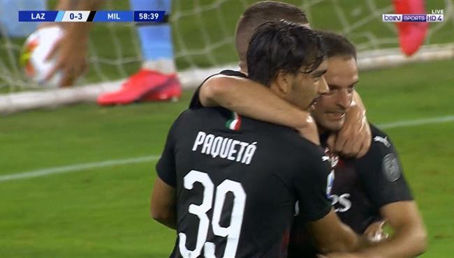 هدف ميلان الثالث فى مرمي لاتسيو (3-0) الدوري الايطالي