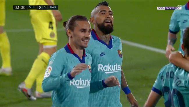 هدف برشلونة الاول في مرمي فياريال بالدوري الاسباني