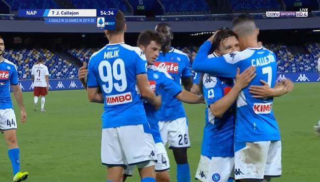 اهداف مباراة نابولي وروما (2-1) الدوري الايطالي