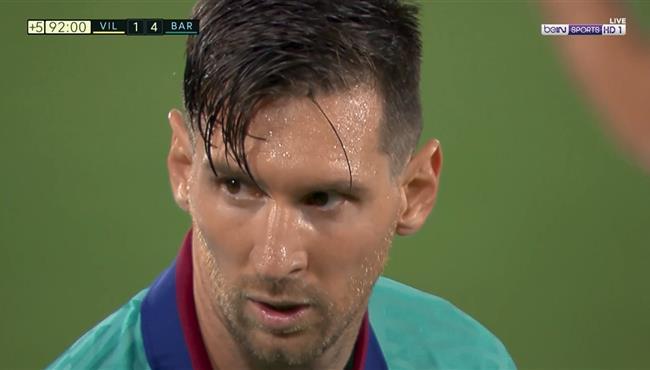 القائم يحرم ميسي من تسجيل هدف رائع امام فياريال بالدوري الاسباني