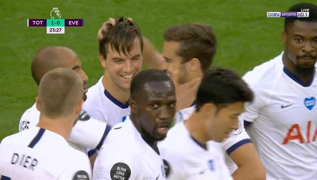 هدف فوز توتنهام علي ايفرتون (1-0) الدوري الانجليزي
