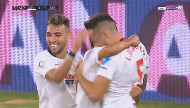 هدف فوز اشبيلية علي ايبار (1-0) الدوري الاسباني