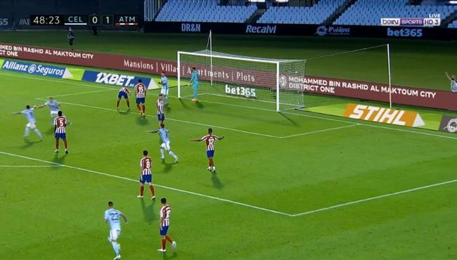 اهداف مباراة اتلتيكو مدريد وسيلتا فيجو (1-1) الدوري الاسباني