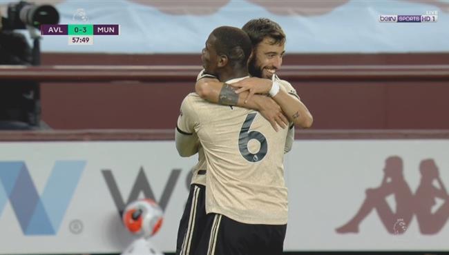اهداف مباراة مانشستر يونايتد واستون فيلا (3-0) الدوري الانجليزي