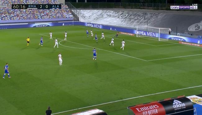 تصدي كورتوا الرائع في مباراة ريال مدريد وديبورتيفو الافيس