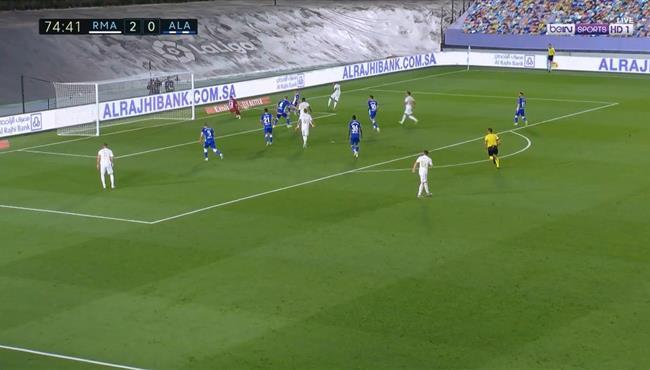 تصدي حارس ديبورتيفو الافيس الرائع يحرم رودريجو من تسجيل هدف ريال مدريد الثالث