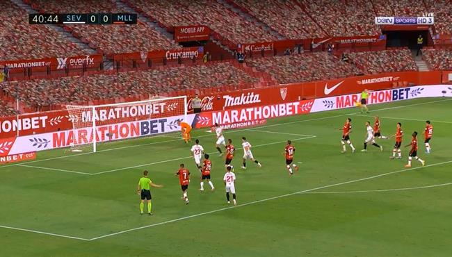 اهداف مباراة اشبيلية ومايوركا (2-0) الدوري الاسباني