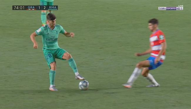 مهاراة رائعة من اسينسيو في مباراة ريال مدريد وغرناطة