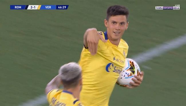 هدف رائع بالكعب لهيلاس فيرونا امام روما في الدوري الايطالي