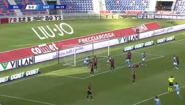اهداف مباراة نابولي وبولونيا (1-1) الدوري الايطالي