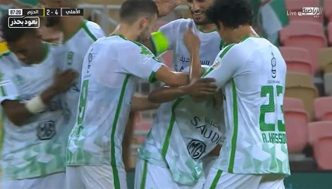 اهداف مباراة الاهلي والحزم (4-2) الدوري السعودي
