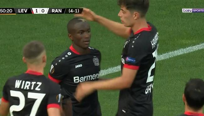 هدف فوز باير ليفركوزن على رينجرز (1-0) الدوري الاوروبي