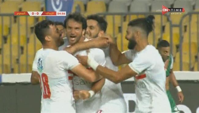 هدف فوز الزمالك علي المصري (1-0) محمود علاء