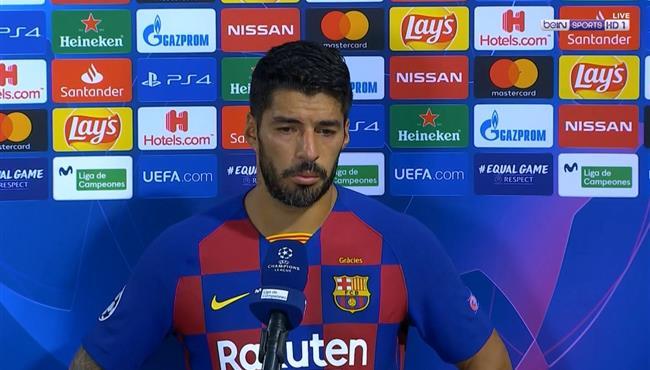 تصريحات سواريز بعد مباراة برشلونة ونابولي بدوري ابطال اوروبا
