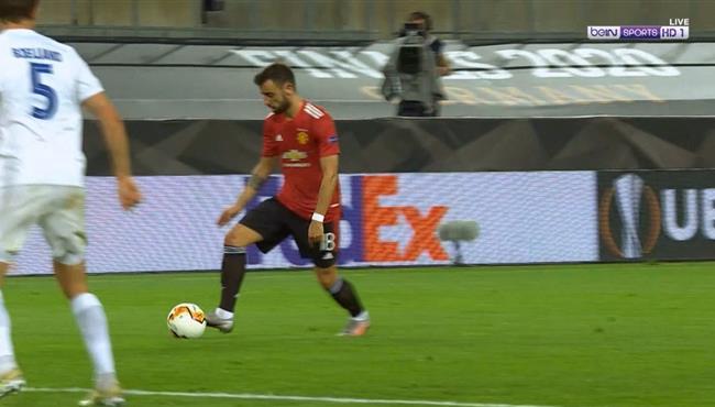 القائم يحرم برونو فيرنانديز من تسجيل هدف رائع امام كوبنهاجن