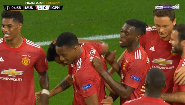 هدف فوز مانشستر يونايتد علي كوبنهاجن (1-0) الدوري الاوروبي