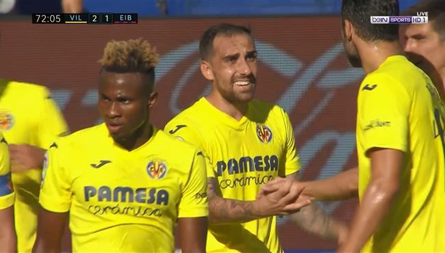 اهداف مباراة فياريال وايبار (2-1) الدوري الاسباني