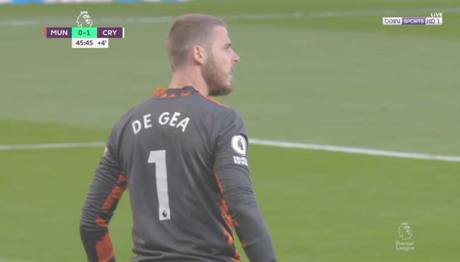 تصدي دي خيا الخرافي في مباراة مانشستر يونايتد وكريستال بالاس
