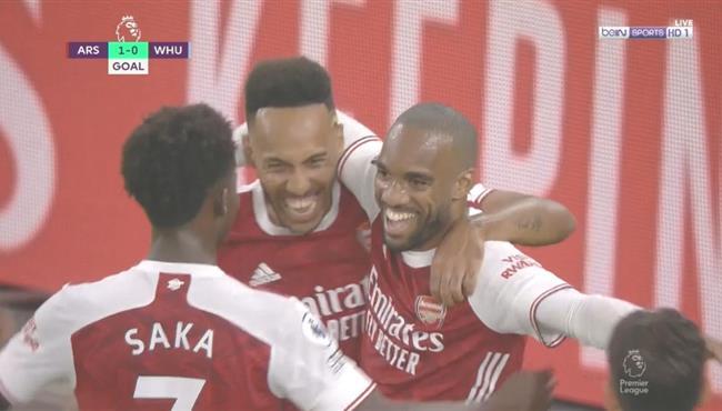 اهداف مباراة ارسنال ووست هام (2-1) الدوري الانجليزي