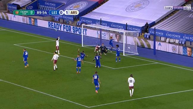 هدف ارسنال الثاني فى مرمي ليستر سيتي (2-0) كاس رابطة الدوري الانجليزي