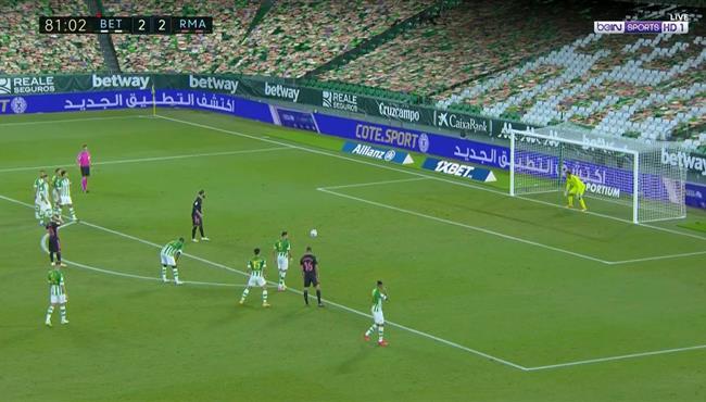 هدف ريال مدريد الثالث فى مرمي ريال بيتيس