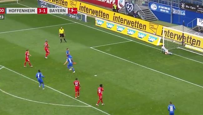 اهداف مباراة هوفنهايم وبايرن ميونخ (4-1) الدوري الالماني
