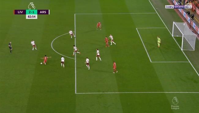 ديوجو جوتا يهدر هدف محقق امام ارسنال بعد تمريرة رائعة من صلاح