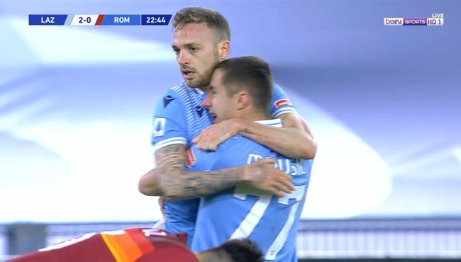 هدف لاتسيو الثاني في مرمي روما (2-0) الدوري الايطالي