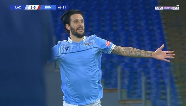 هدف لاتسيو الثالث في مرمي روما (3-0) الدوري الايطالي