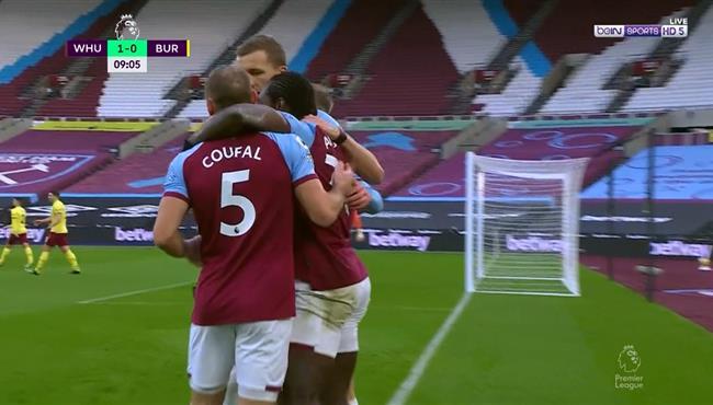 هدف فوز وست هام علي بيرنلي (1-0) الدوري الانجليزي