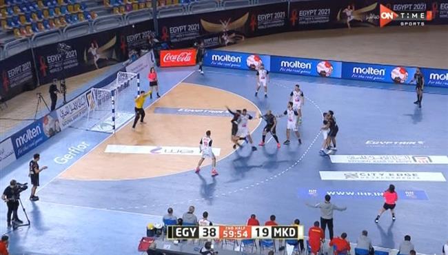 اهداف مباراة مصر ومقدونيا الشمالية (38-19) كاس العالم لكرة اليد