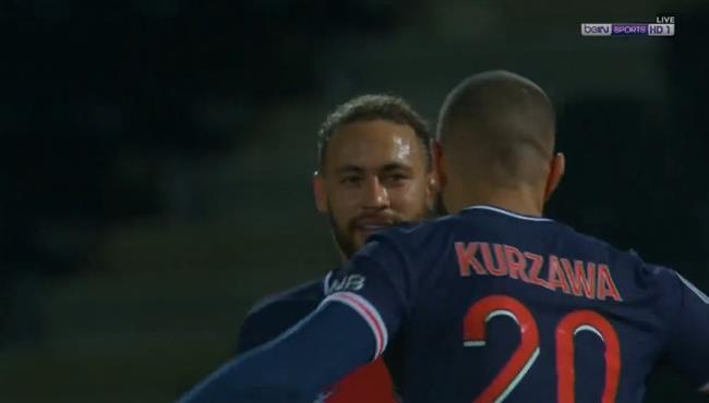 هدف فوز باريس سان جيرمان علي انجيه (1-0) الدوري الفرنسي