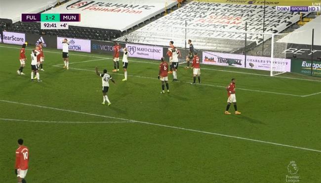 سنتيميترات تنقذ مانشستر يونايتد من هدف تعادل لفولهام في الثواني الاخيرة
