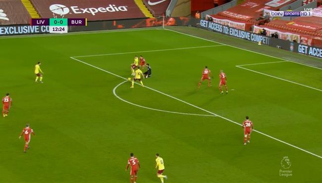 خطأ اليسون القاتل كاد ان يتسبب في هدف اول لبيرنلي امام ليفربول