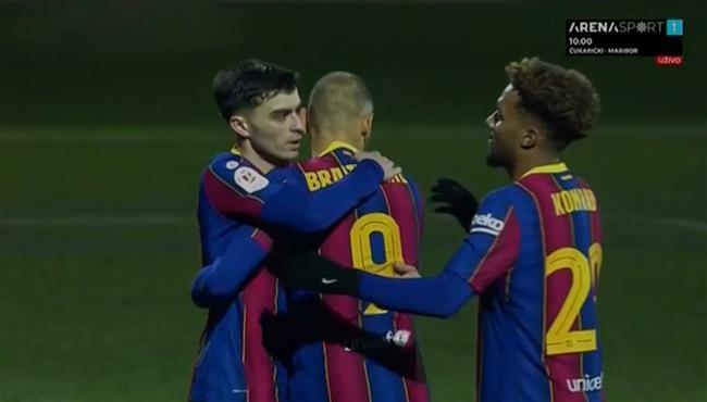 اهداف مباراة برشلونة وكورنيلا (2-0) كاس ملك اسبانيا