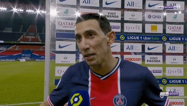 تصريحات دي ماريا بعد مباراة باريس سان جيرمان ومونبلييه